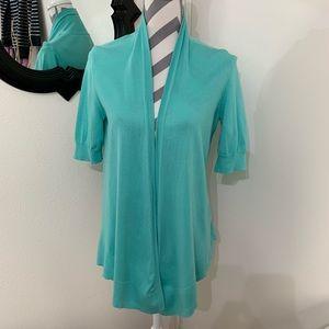 Náutica open short sleeve cardigan size medium